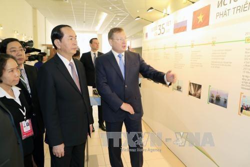 国家主席陈大光前往圣彼得堡市进行访问 hinh anh 3