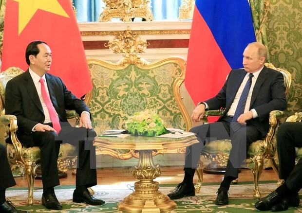 越南国家主席陈大光与俄罗斯总统普京举行会谈 hinh anh 1