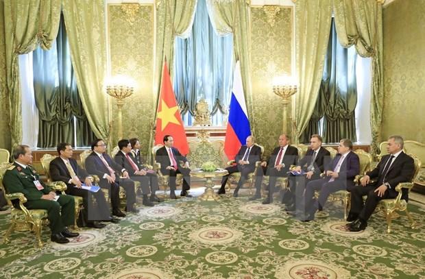 越南国家主席陈大光与俄罗斯总统普京举行会谈 hinh anh 2