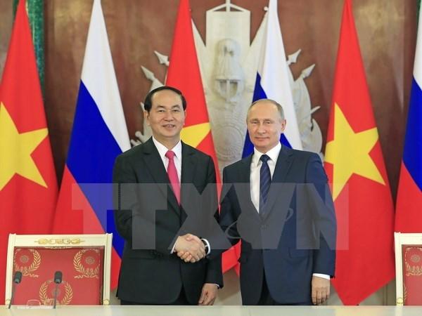俄罗斯媒体对国家主席陈大光访俄之旅给予积极评价 hinh anh 1
