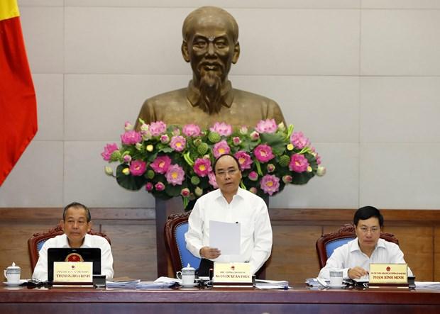 政府总理阮春福:坚定信心 努力完成2017年全年目标任务 hinh anh 1