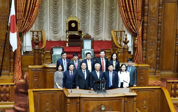 国会副主席汪周刘会见日本国会众议院议长和参议院副议长举行会谈 hinh anh 4