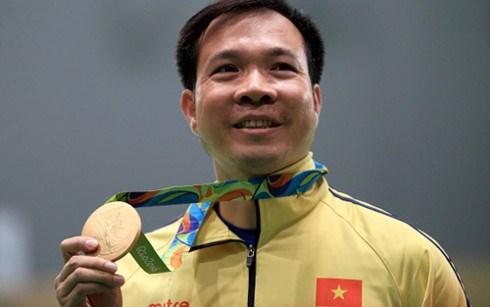 男子10米气手枪世界排名:越南射击运动员黄春荣居首 hinh anh 1