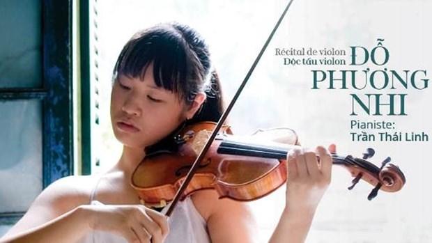 越南年轻人才杜芳儿小提琴独奏音乐会即将亮相河内 hinh anh 1