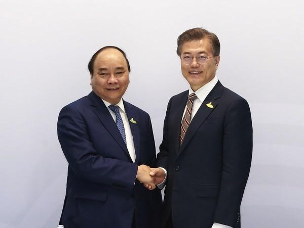 阮春福在G20峰会期间举行一系列双边会见活动 hinh anh 1