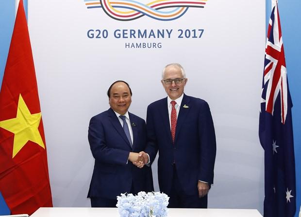 阮春福在G20峰会期间举行一系列双边会见活动 hinh anh 3
