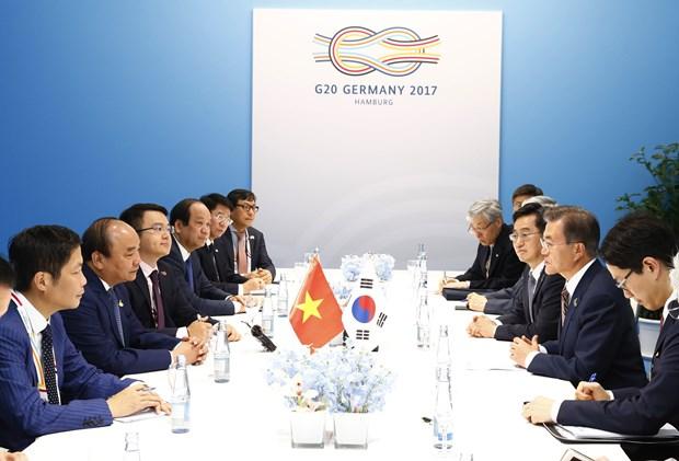 阮春福在G20峰会期间举行一系列双边会见活动 hinh anh 2