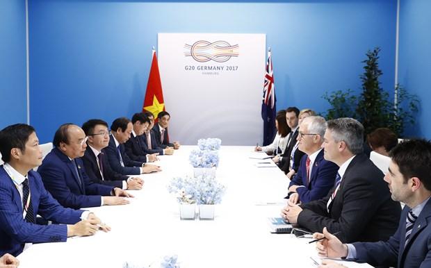 阮春福在G20峰会期间举行一系列双边会见活动 hinh anh 4