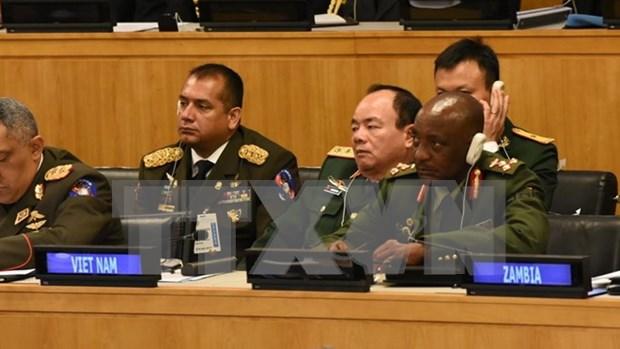 越南出席联合国维和国防军司令会议 hinh anh 1