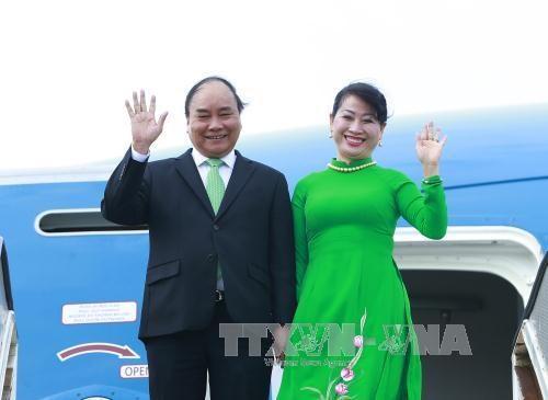 越南政府总理阮春福抵达阿姆斯特丹 开始对荷兰进行访问 hinh anh 1