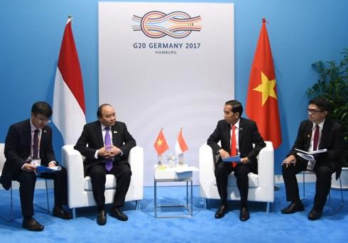 阮春福与各国和国际组织领导举行双边会晤 hinh anh 1