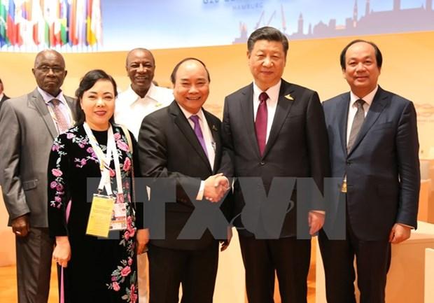 阮春福与各国和国际组织领导举行双边会晤 hinh anh 4