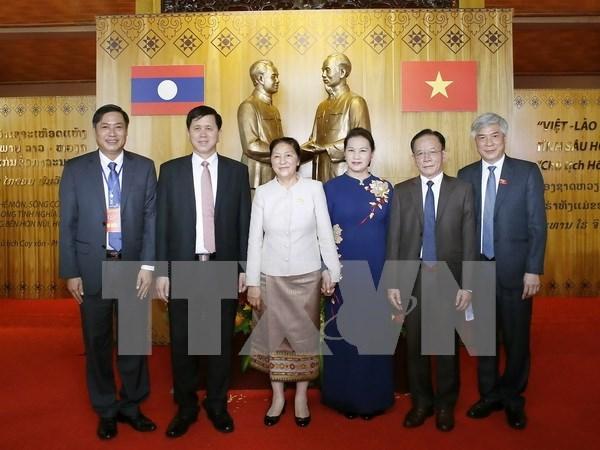 老挝国会主席巴妮•雅陶都结束对越访问并出席越老建交55周年系列纪念活动之旅 hinh anh 1