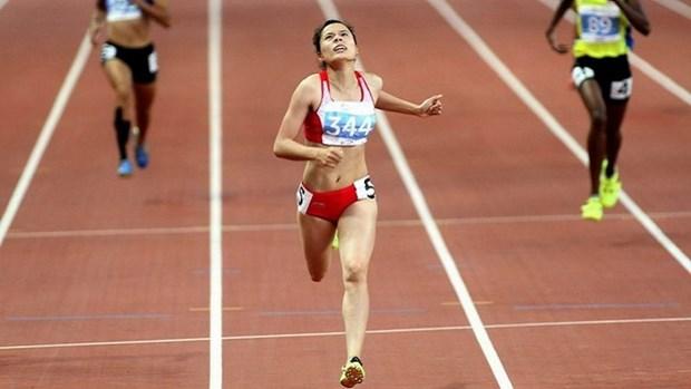 2017亚洲田径锦标赛:越南运动员阮氏玄在女子400米栏决赛夺金 hinh anh 1