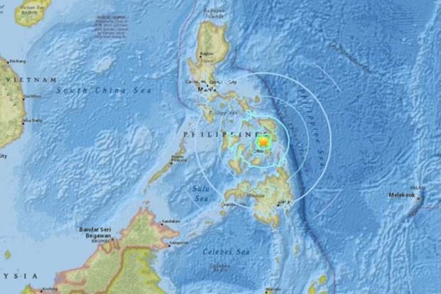 菲律宾莱特岛发生5.9级地震 hinh anh 1