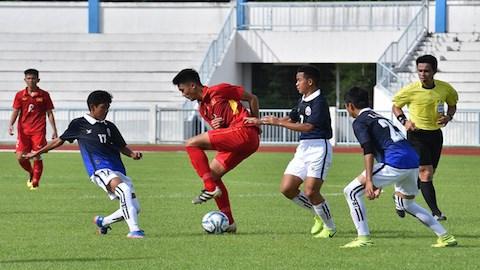 2017年东南亚U15男足锦标赛:越南队取得开门红 hinh anh 1