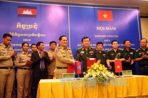 越南与柬埔寨加强合作 确保边境地区安全 hinh anh 1