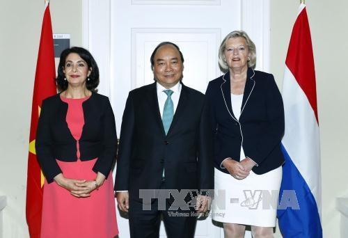 政府总理阮春福会见荷兰议会一院议长和二院议长 hinh anh 1