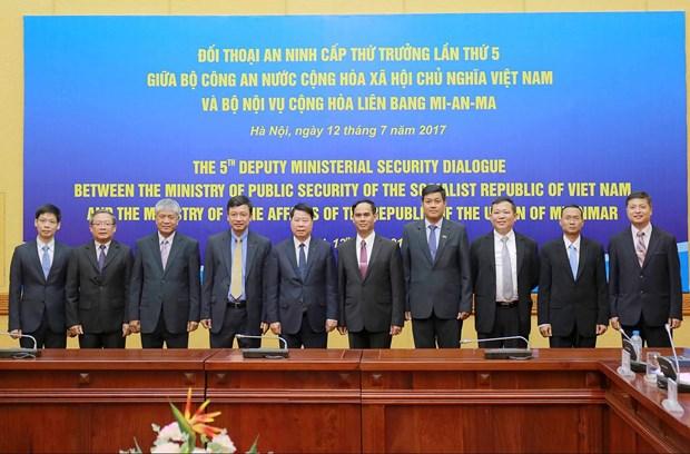 公安部部长苏林上将会见缅甸内政部副部长昂索 hinh anh 2