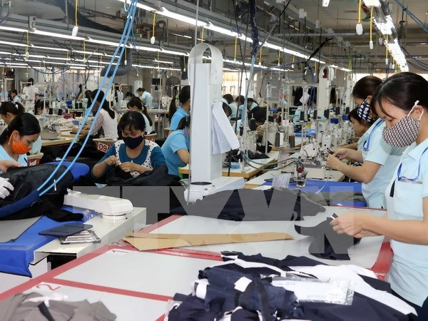 2017年上半年越南纺织品服装出口总额同比增长11.3% hinh anh 1