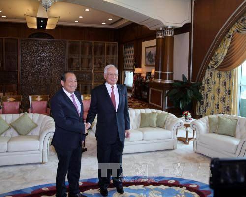 越南政府副总理张和平拜会马来西亚总理纳吉布 hinh anh 1
