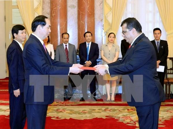 陈大光主席接受西班牙和也门新任驻越大使递交国书 hinh anh 2
