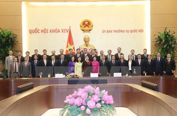 国会主席阮氏金银会见越南驻外大使和外交代表机构首席代表 hinh anh 1