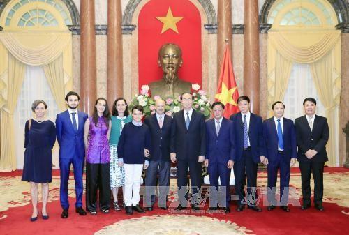 越南国家主席陈大光会见墨西哥前总统卡洛斯 hinh anh 2