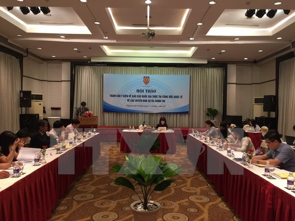 越南征求意见完善《公民权利和政治权利国际公约》实施情况国家报告 hinh anh 1