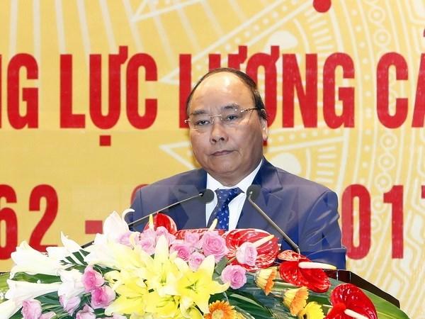 阮春福总理:提高人民警察队伍素质 在新形势下满足新要求 hinh anh 1