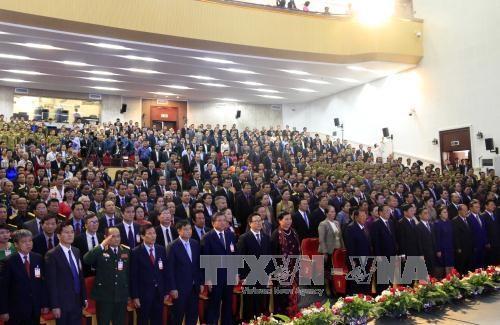 越南高级代表团赴老挝出席越老建交55周年庆典 hinh anh 1