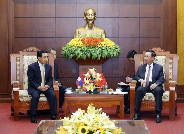 老挝高级代表团访问和平省 hinh anh 1