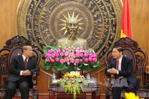 柬埔寨宗教事务部代表团访问隆安省 hinh anh 1