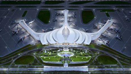 莲花LT-03方案被选为龙城国际航空港航站楼建筑设计方案 hinh anh 1