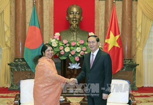 越南国家主席会见孟加拉国国民议会议长 hinh anh 1