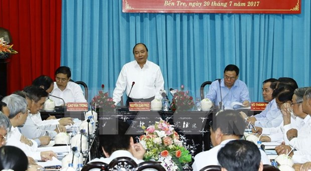 阮春福总理:集中资源 协助槟椥省有效应对气候变化 hinh anh 1
