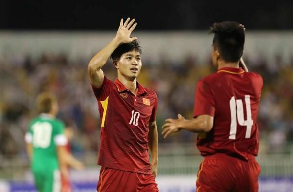 2018年U23亚锦赛预选赛:越南U22队8比1大胜中国澳门U22队 hinh anh 1