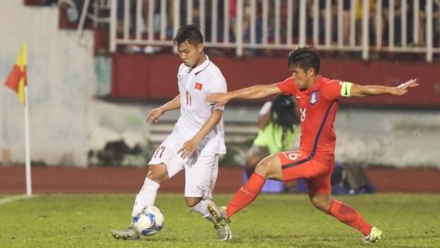 2018年U23亚洲杯预选赛:越南队毫无悬念进入正赛 hinh anh 1
