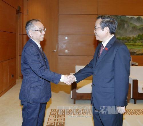 越南国会副主席冯国显会见日本审计委员会代表团 hinh anh 1