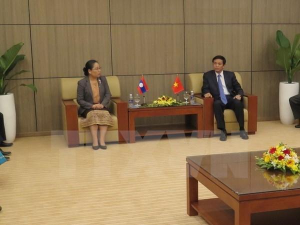 越老建交55周年:两国国会办公厅在岘港市举行第九次工作经验交流会 hinh anh 1