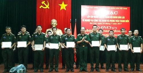 老挝人民军队干部共青团工作业务培训班结业 hinh anh 1