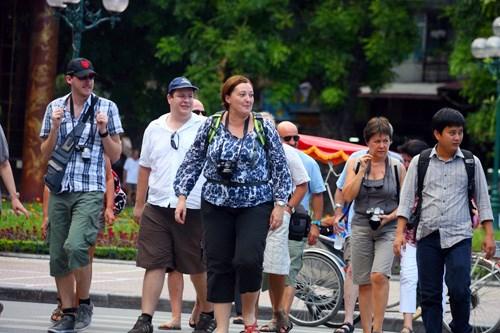 今年7月份越南接待国际游客量同比增长21.1% hinh anh 1