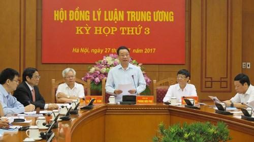 中央理论委员会第三次会议在河内召开 hinh anh 1