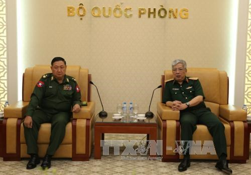 国防部副部长阮志咏上将会见缅甸军事安全总局副总局长 hinh anh 1
