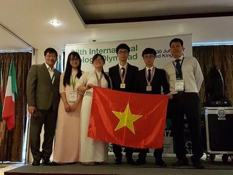 越南学生在2017年国际生物奥赛中获得金牌 hinh anh 1