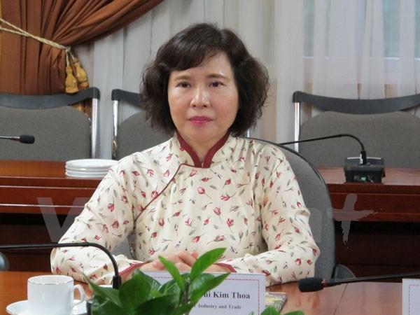 越共中央检查委员会决定给予工贸部副部长胡氏金钗警告处分 hinh anh 1
