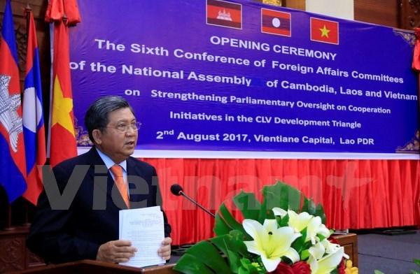 柬老越三国国会对外委员会第六次会议在老挝首都万象开幕 hinh anh 3