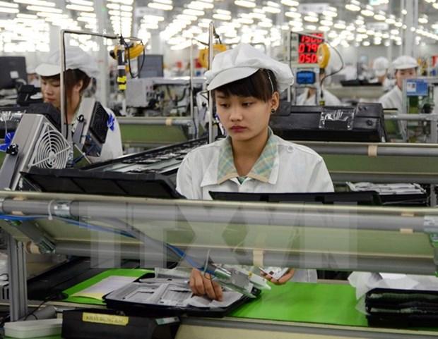 2017年前7月越南工业生产指数略增 hinh anh 1