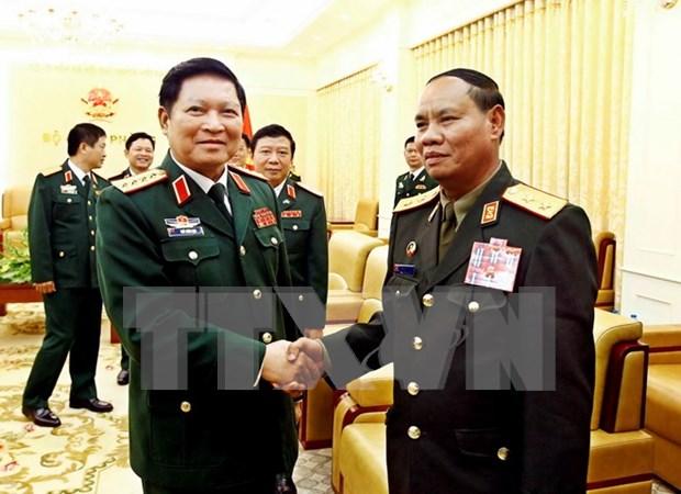 老挝人民军总政治局主任维莱访问越南 hinh anh 2