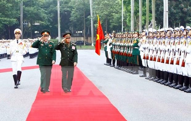 老挝人民军总政治局主任维莱访问越南 hinh anh 1